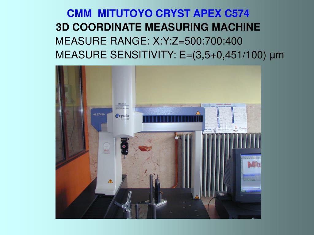 CMM  MITUTOYO CRYST APEX C574