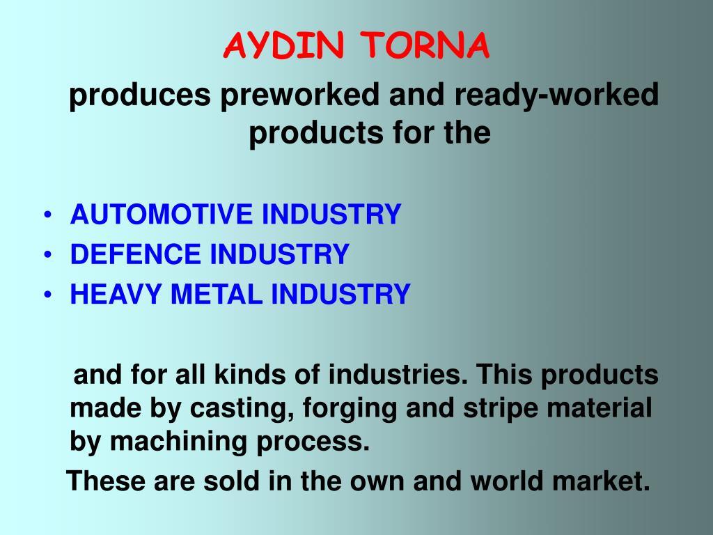 AYDIN TORNA
