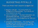 budgeting pitfalls