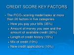 credit score key factors
