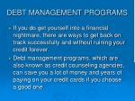 debt management programs