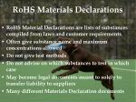 rohs materials declarations