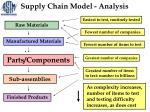 supply chain model analysis