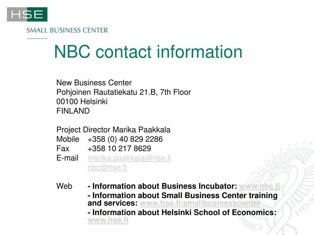 NBC contact information