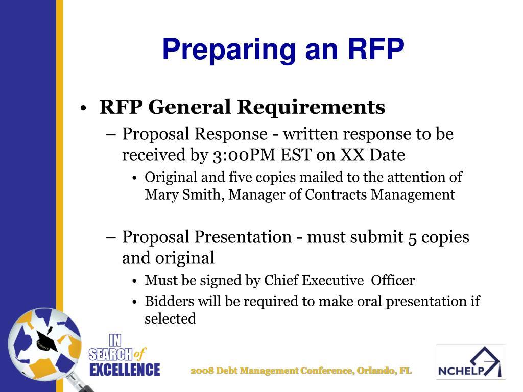 Preparing an RFP