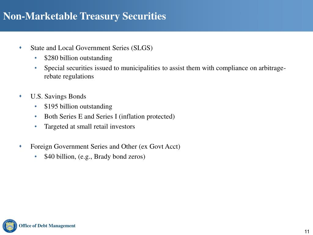 Non-Marketable Treasury Securities