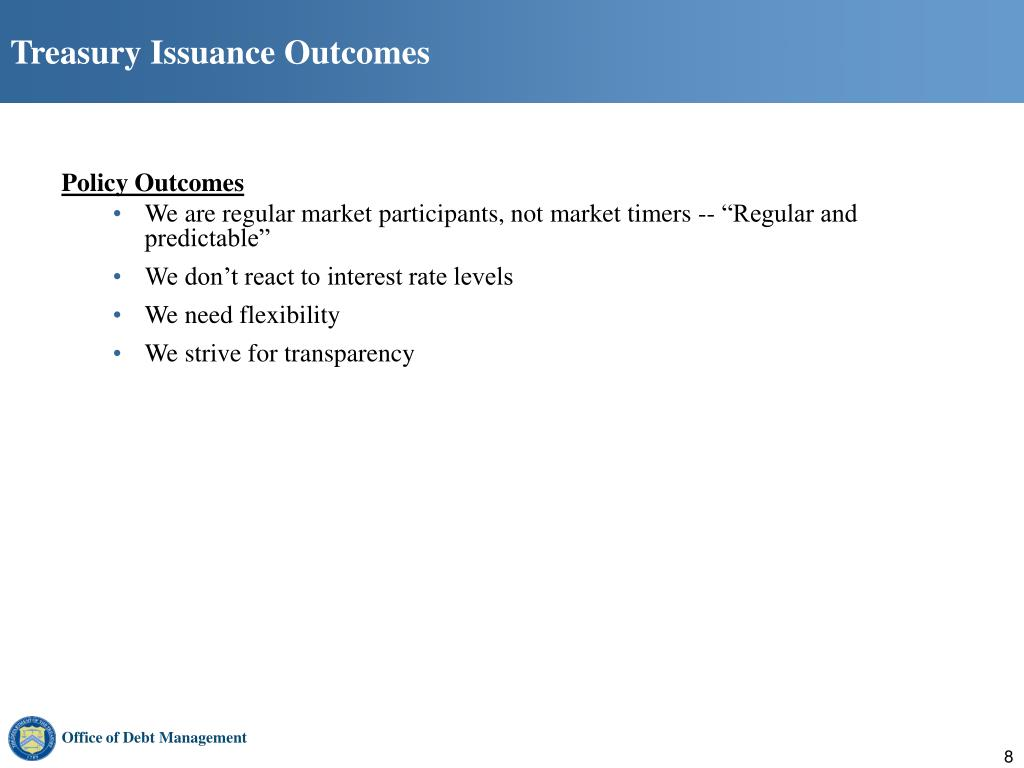 Treasury Issuance Outcomes