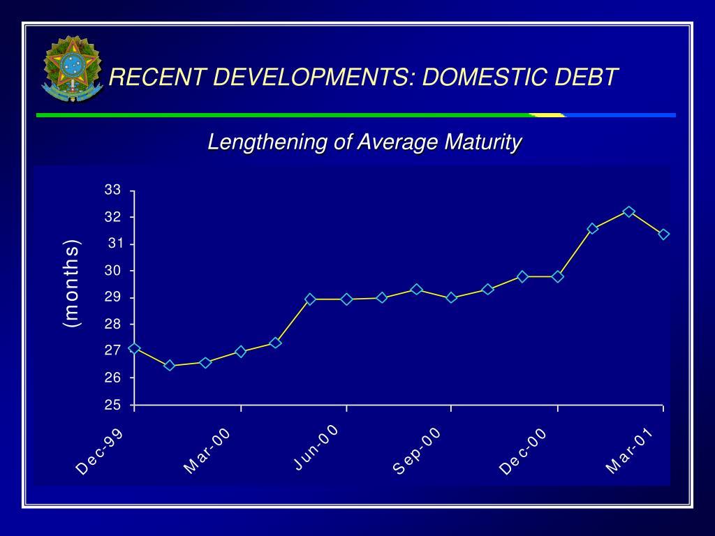 RECENT DEVELOPMENTS: DOMESTIC DEBT