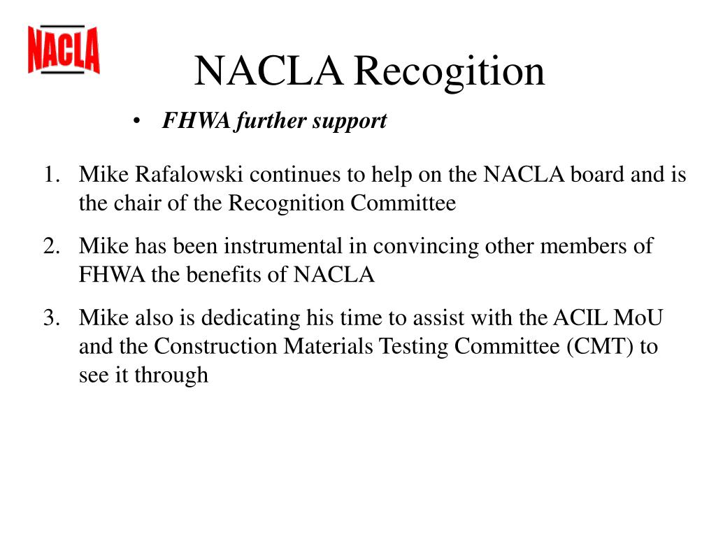 NACLA Recogition