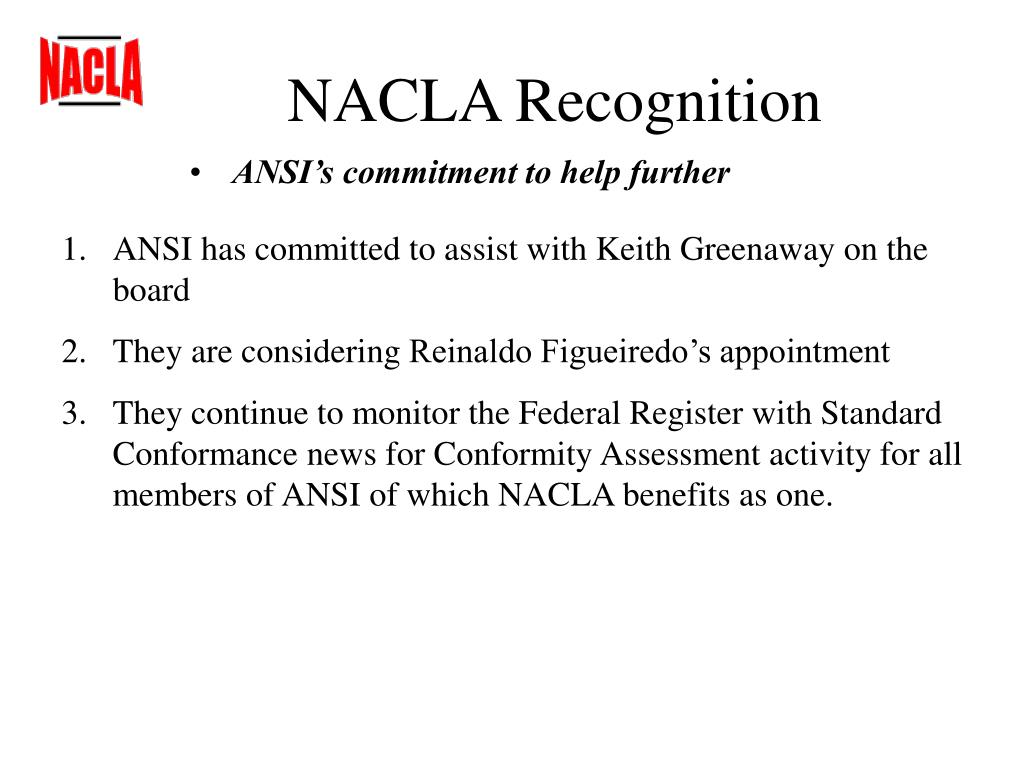 NACLA Recognition