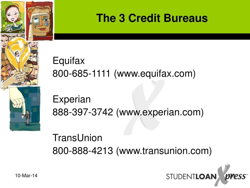 The 3 Credit Bureaus