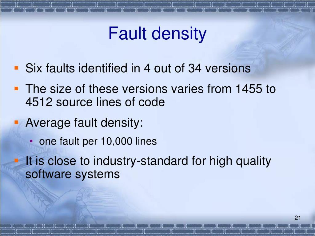 Fault density