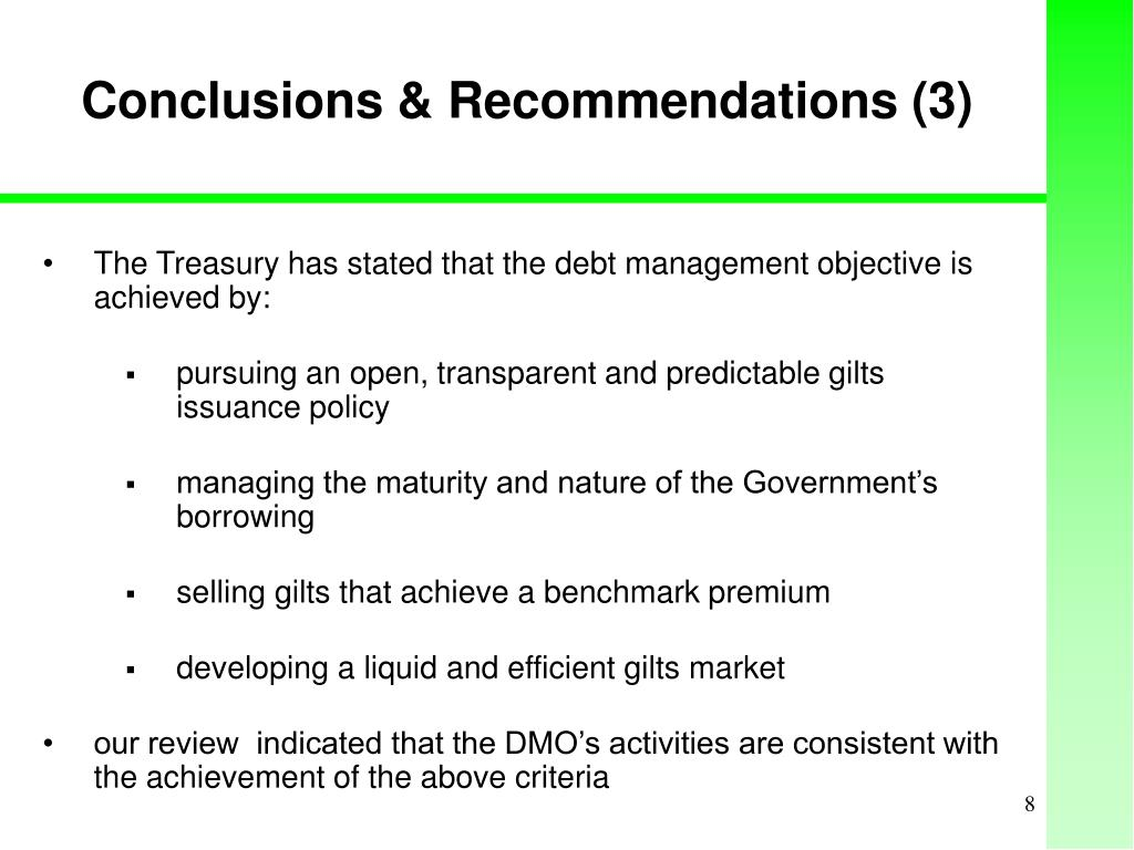 Conclusions & Recommendations (3)