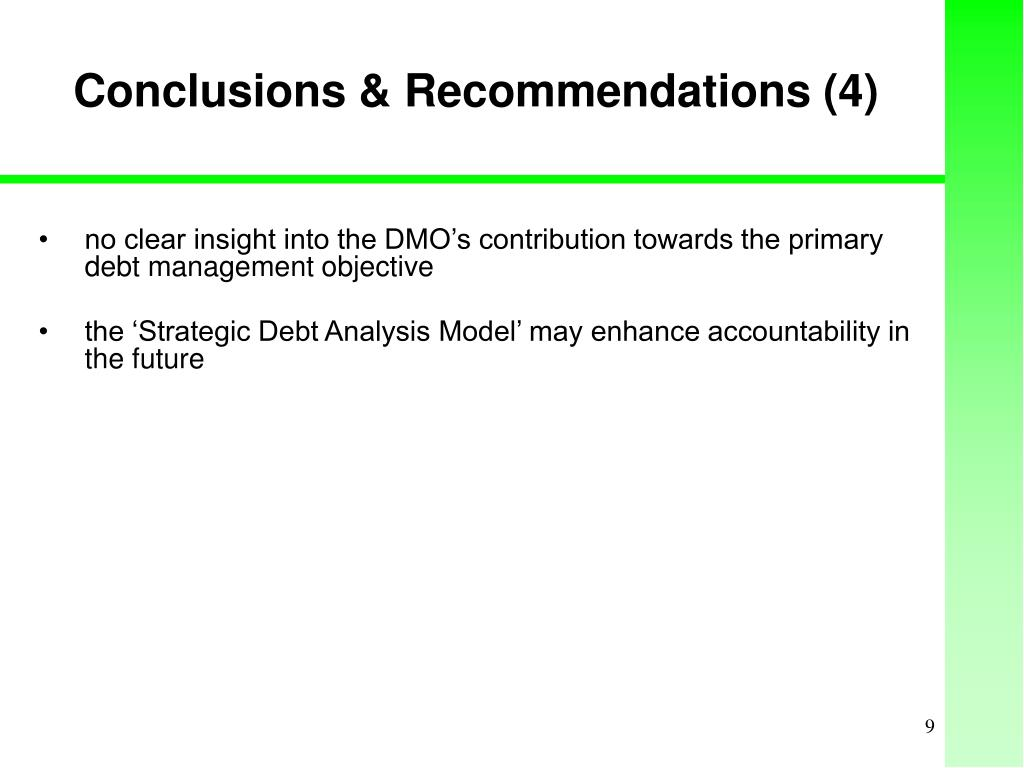 Conclusions & Recommendations (4)
