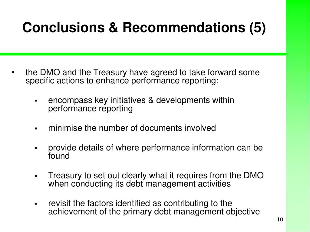 Conclusions & Recommendations (5)