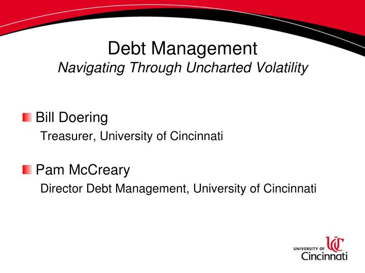 Debt management navigating through uncharted volatility