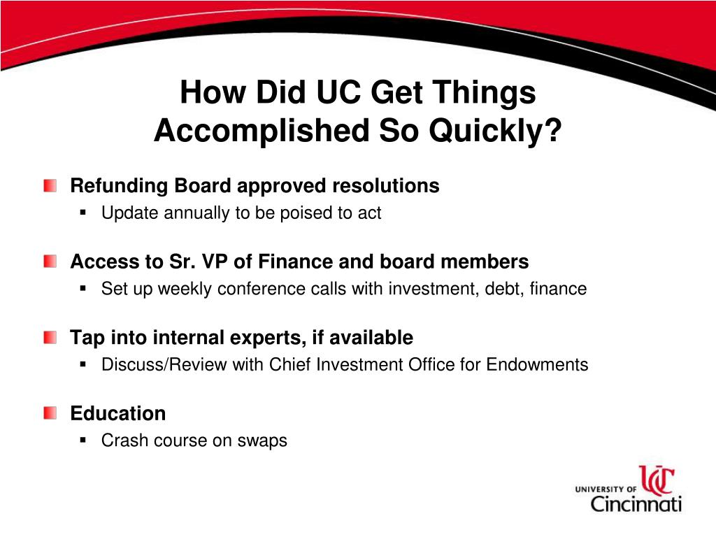 How Did UC Get Things