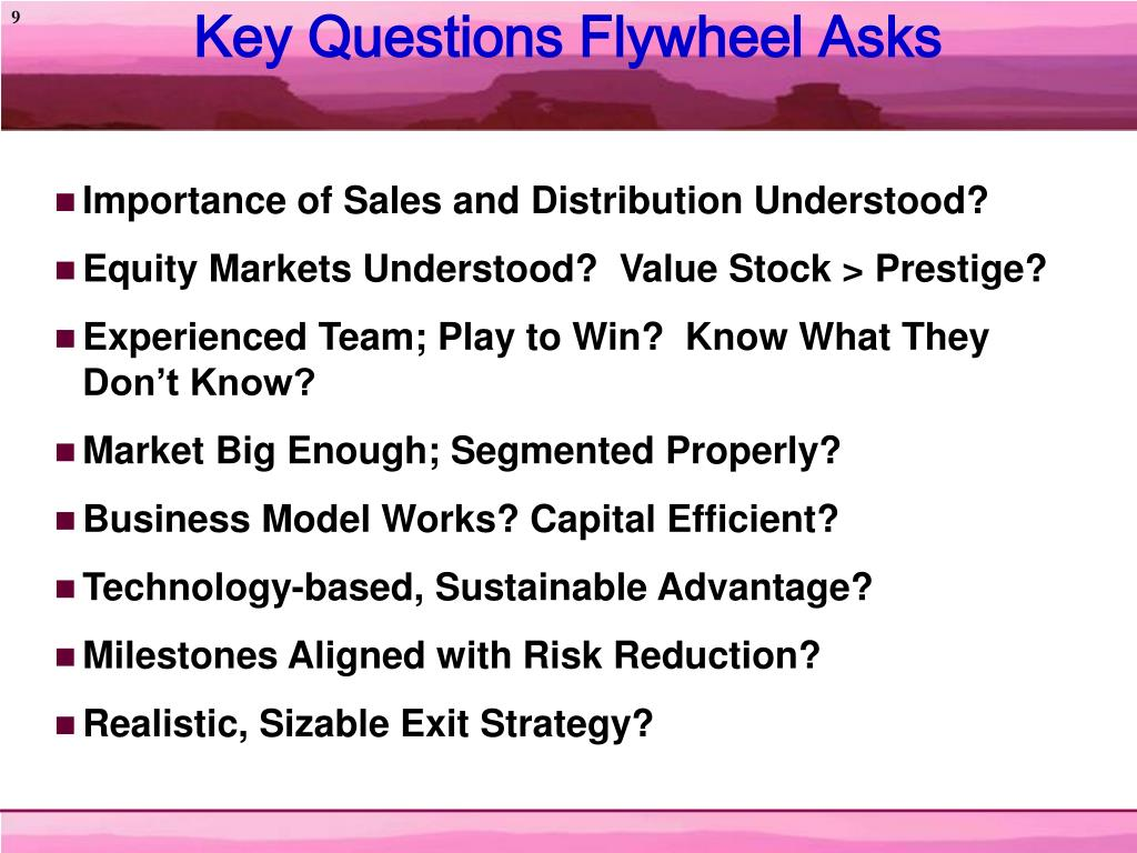 Key Questions Flywheel Asks