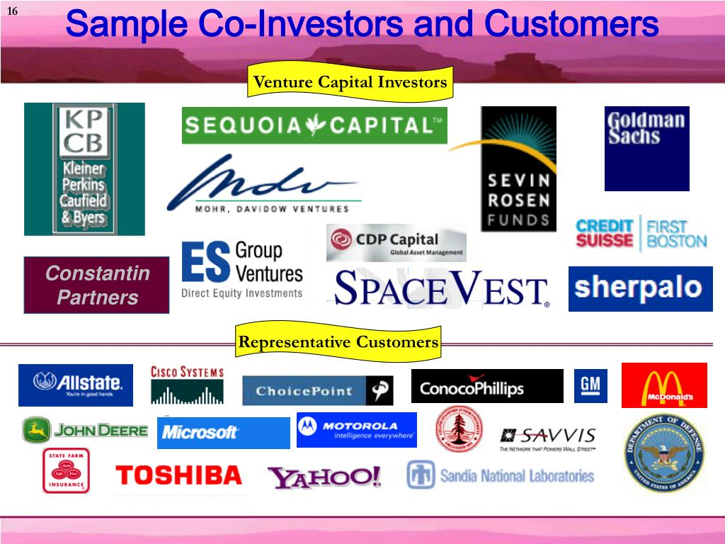 Sample Co-Investors and Customers