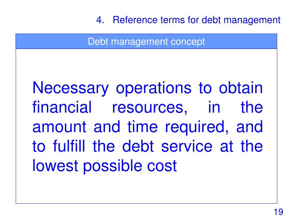 Debt management concept