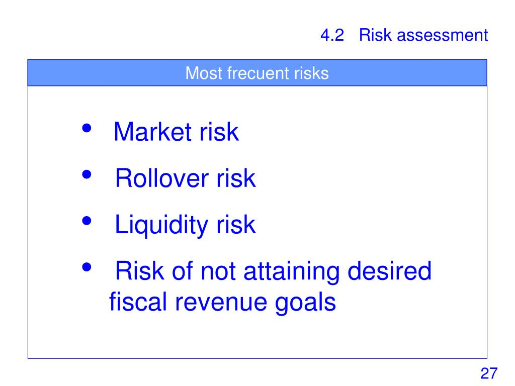Most frecuent risks