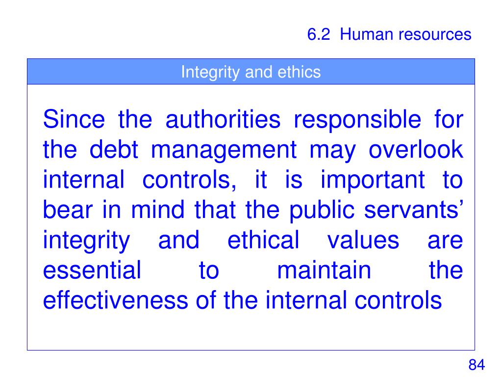 Integrity and ethics