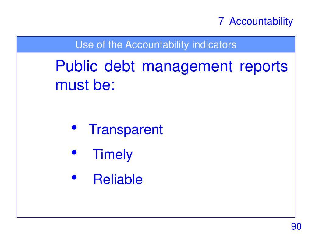 Use of the Accountability indicators