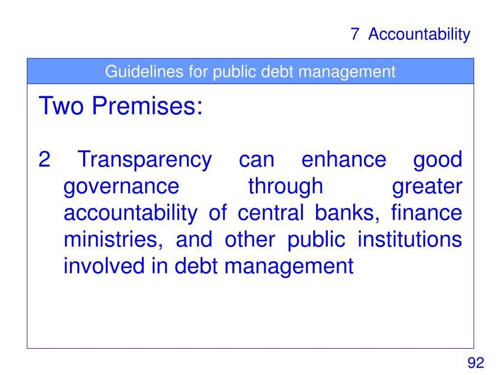 Guidelines for public debt management