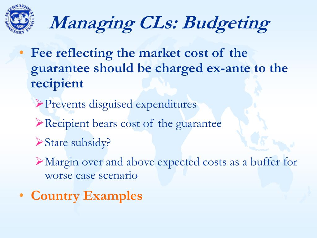 Managing CLs: Budgeting