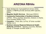 arizona rbhas