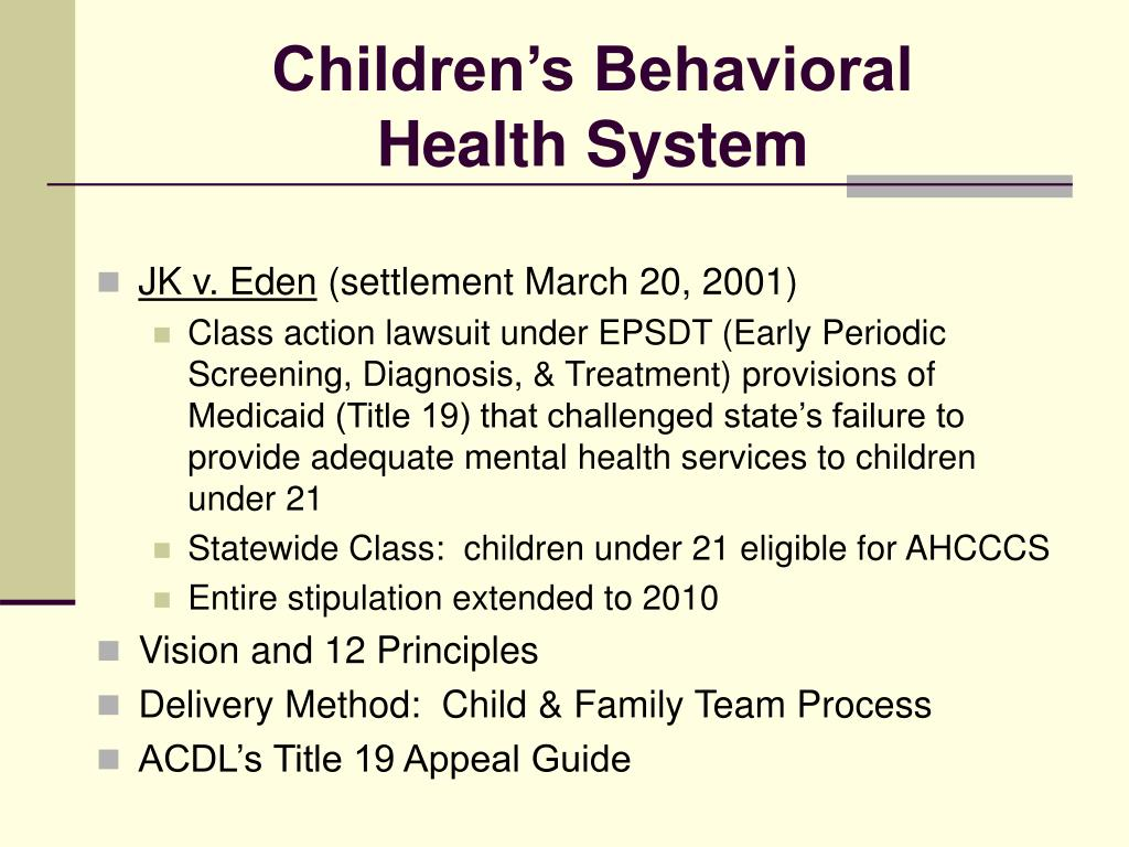 Children's Behavioral