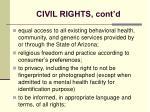civil rights cont d