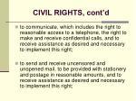 civil rights cont d20