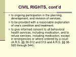 civil rights cont d23
