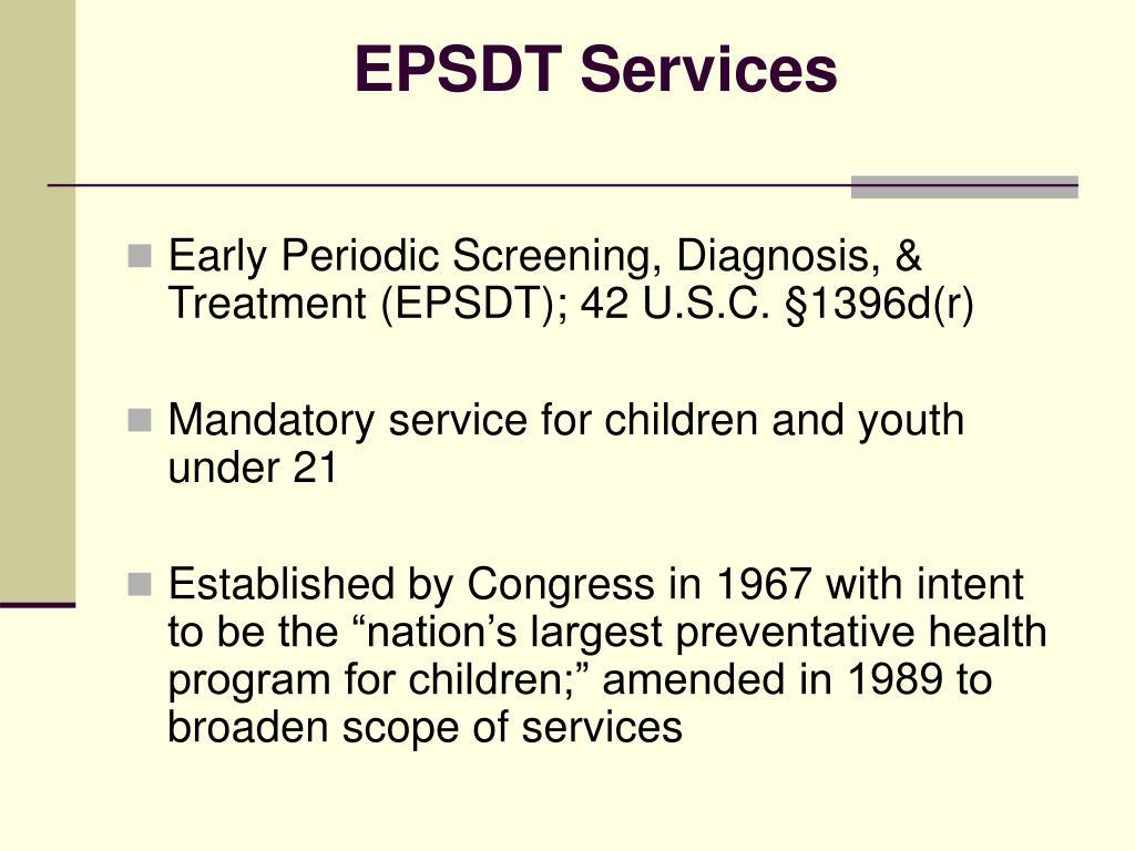 EPSDT Services