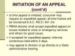 initiation of an appeal cont d99