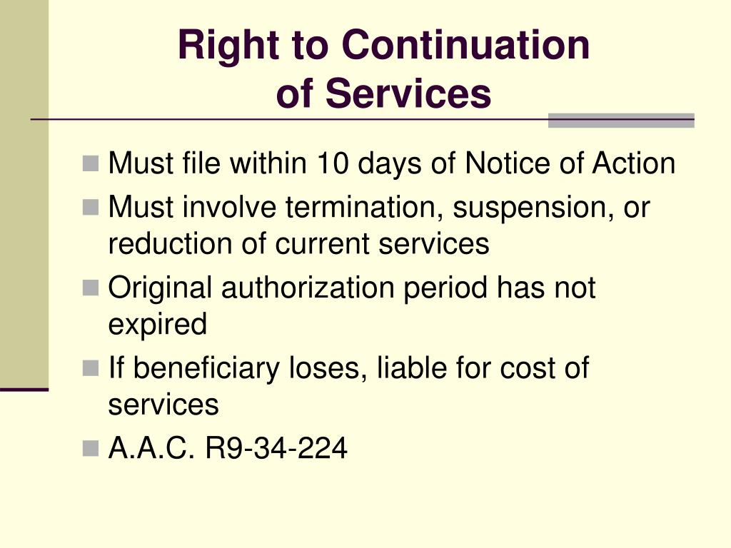 Right to Continuation