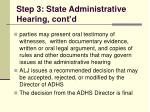 step 3 state administrative hearing cont d109