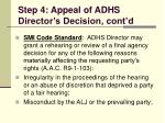 step 4 appeal of adhs director s decision cont d113
