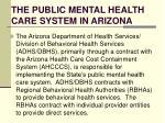 the public mental health care system in arizona