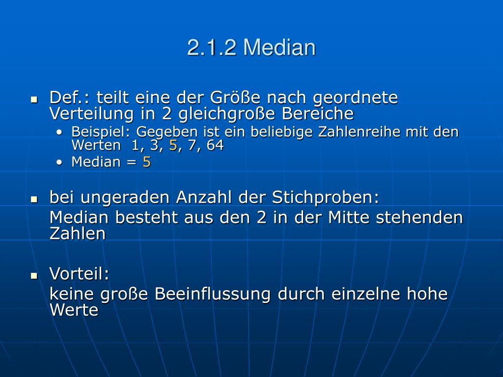 2.1.2 Median