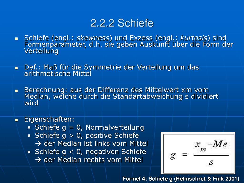 2.2.2 Schiefe