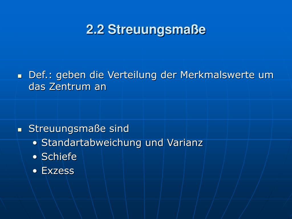 2.2 Streuungsmaße