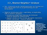 2 3 nearest neighbor analyse