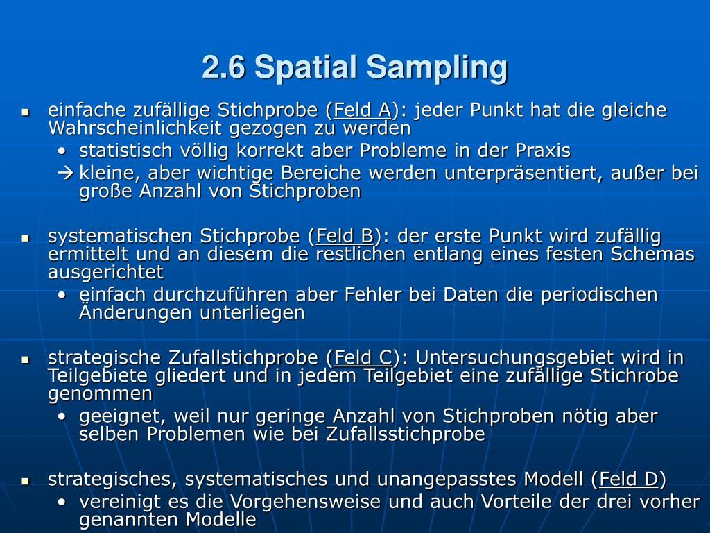 2.6 Spatial Sampling