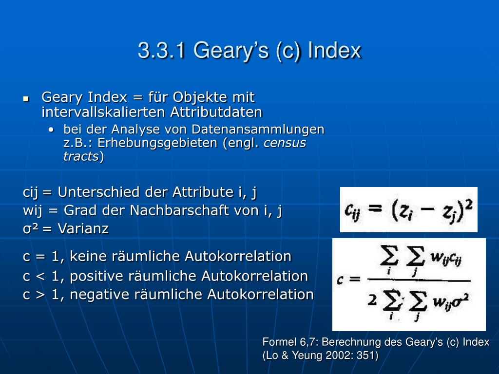 3.3.1 Geary's (c) Index