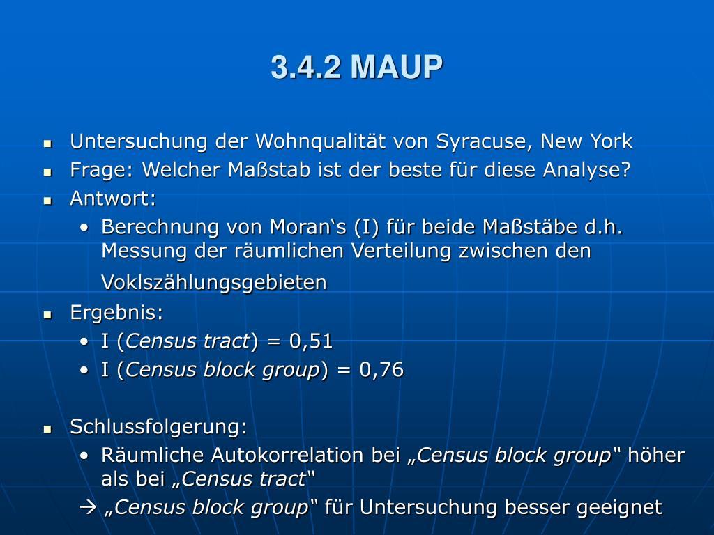3.4.2 MAUP