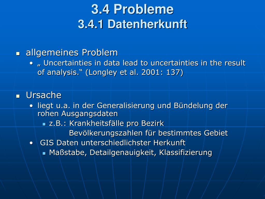 3.4 Probleme