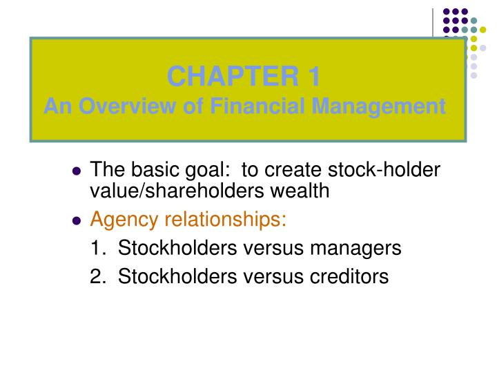 agency conflict stockholders vs creditors
