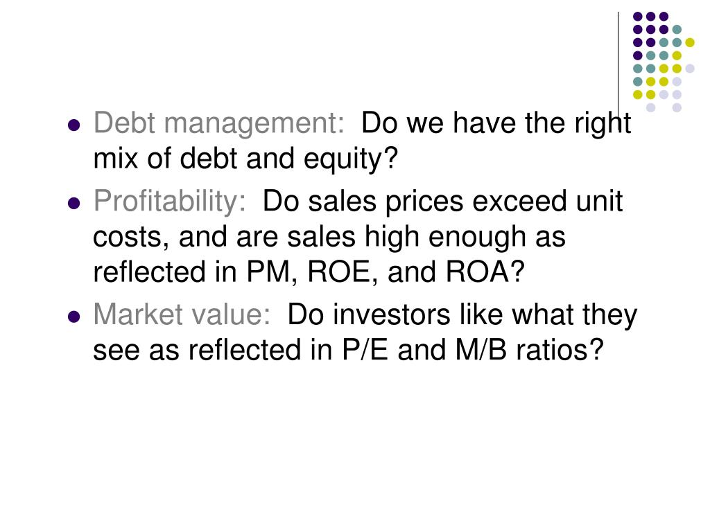 Debt management: